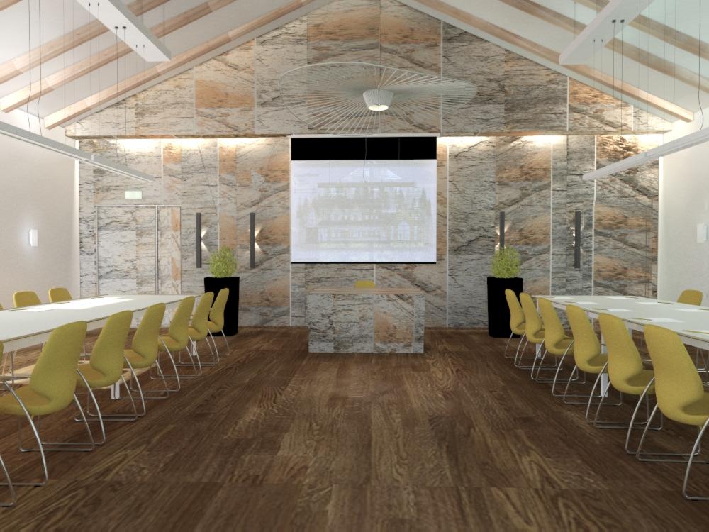 projekt sali konferencyjnej