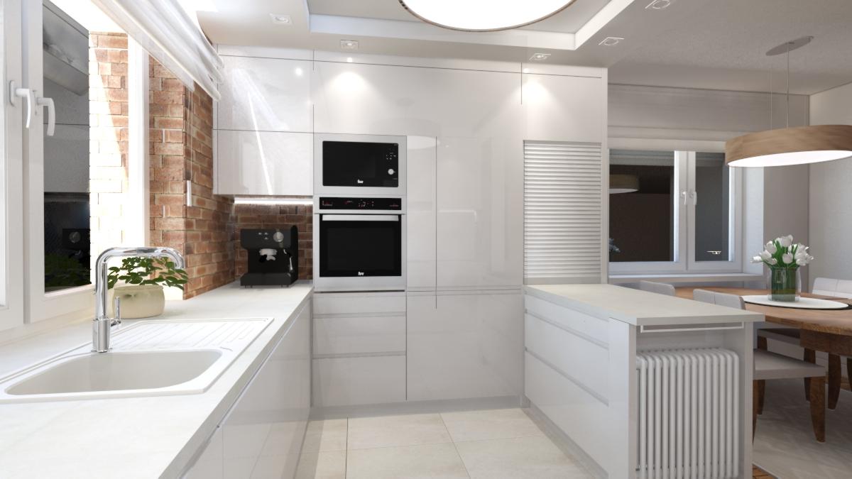 Projekt białej kuchni w Koszalinie  Aleksandra Jankowska -> Hape Kuchnia Biala