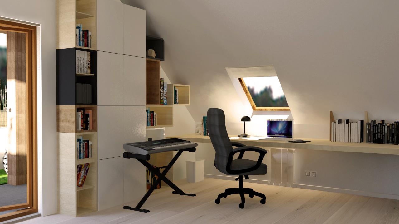 pok j na poddaszu dla 11 latka aleksandra jankowska. Black Bedroom Furniture Sets. Home Design Ideas