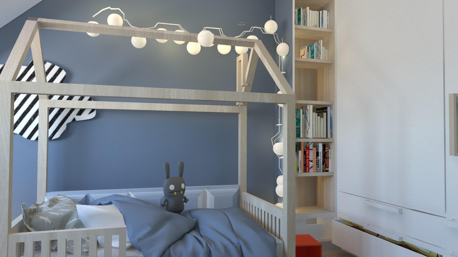 projekt pokoju dla trzyletniego ch opca aleksandra jankowska. Black Bedroom Furniture Sets. Home Design Ideas